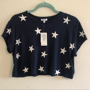 ⭐️ NWT splendid stars cropped top extra small ⭐️